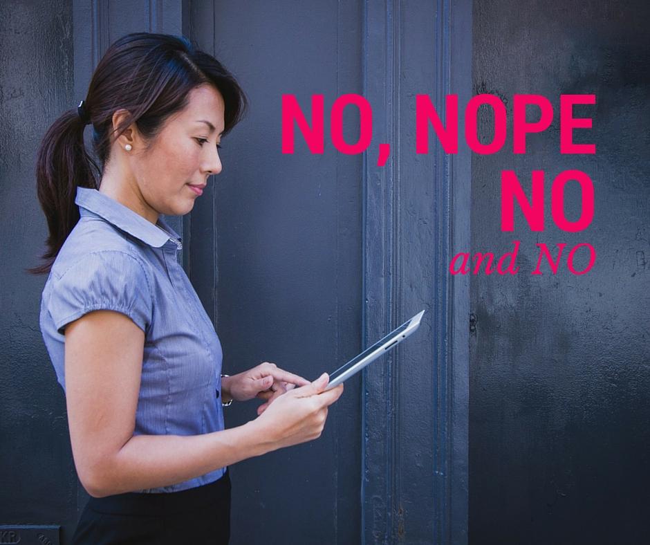 saying no is hard