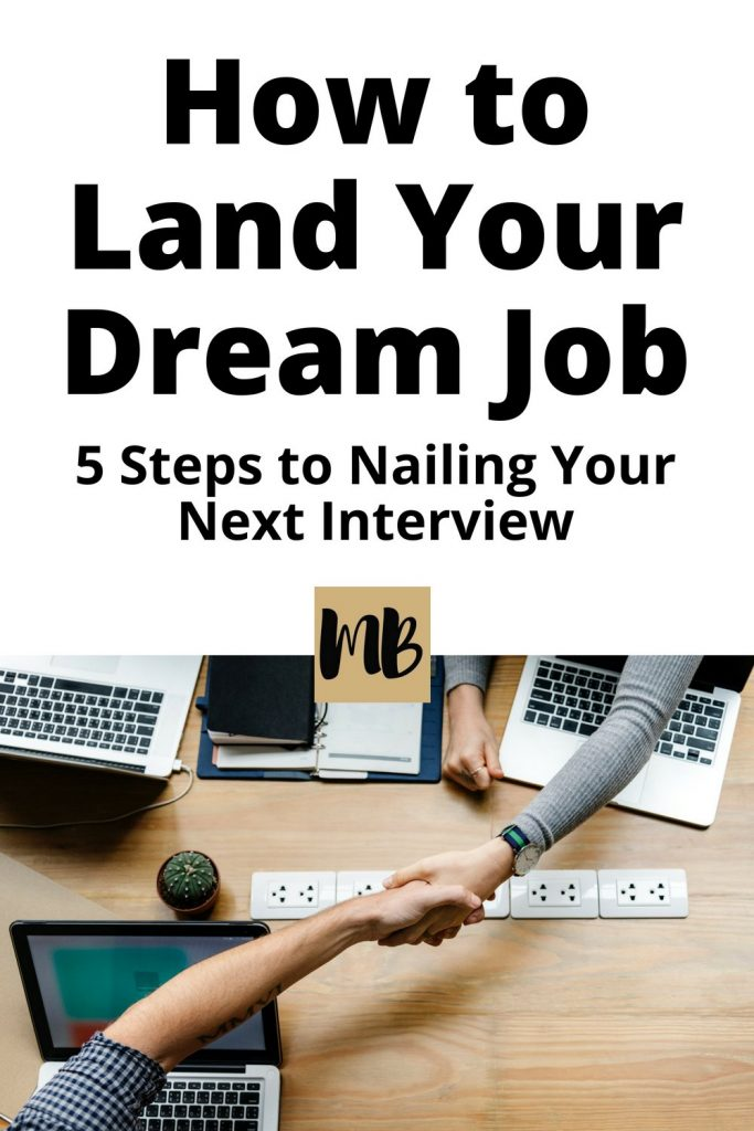 Discover how to land your dream job with these 5 proven interview tips | #millennialcareer #careeradvice #tips #dreamjob #interviewtips