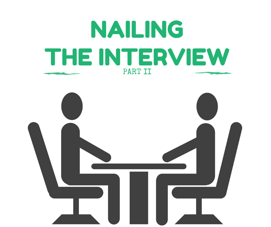 STACIE: Nailing the interviewer