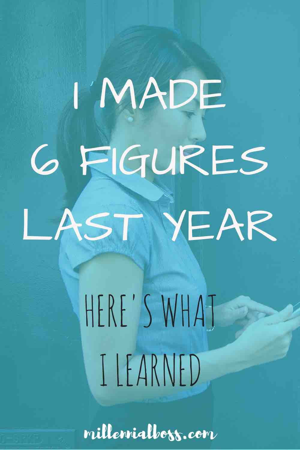 So glad I read this post! I'm hoping to make six figures next year!