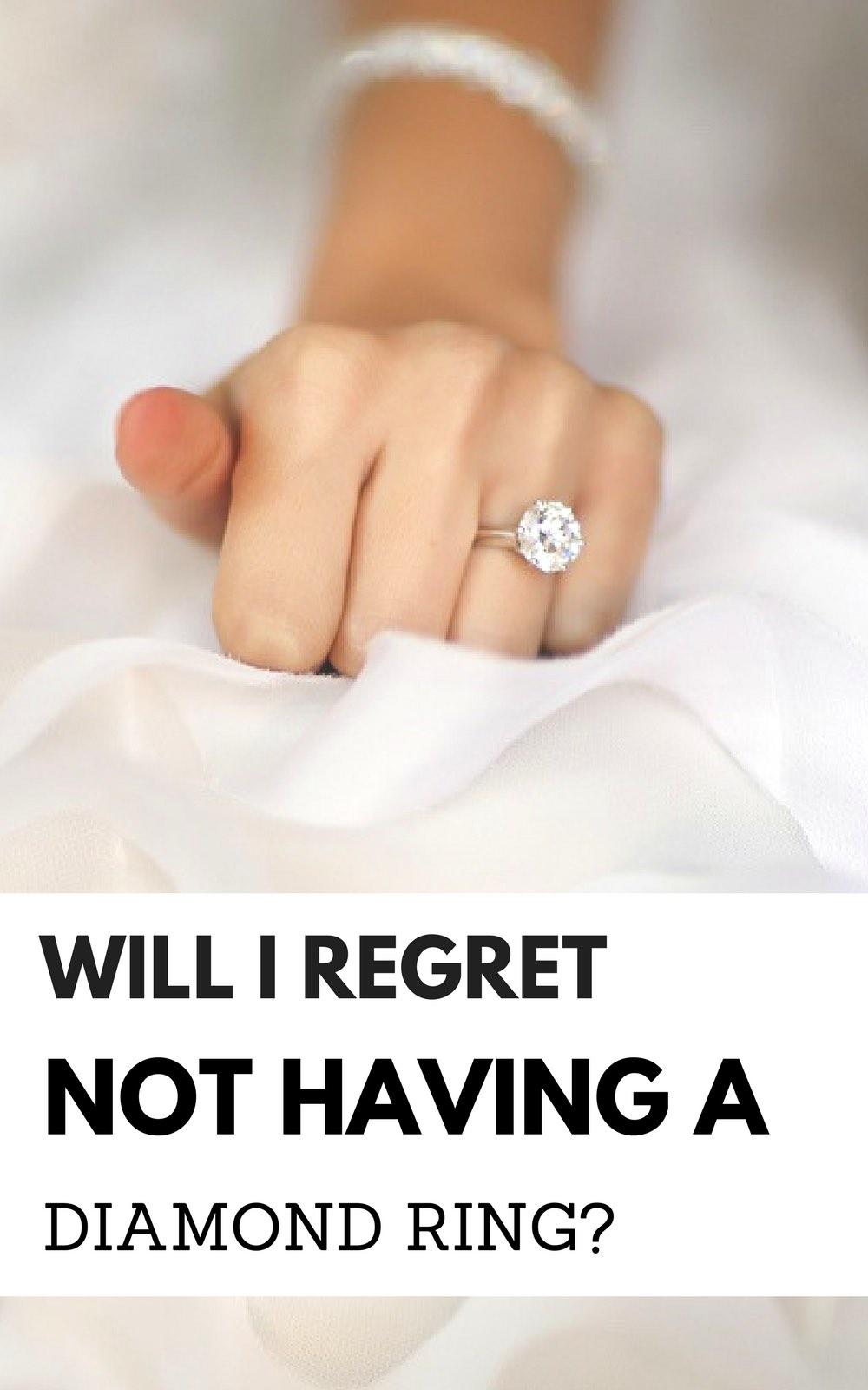 Will I regret not having a diamond ring? Diamond engagement ring alternatives | conflict free diamond ideas | moissanite