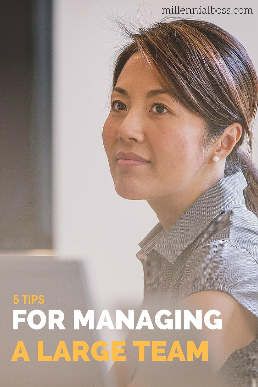 5 Tips Managing Large Team