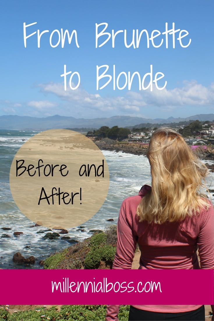 Last fall I got the itch to go blonde. I wanted a major change to celebrate the adventure and the freedom I was feeling at this point in my life. Going blonde was it for me. It made no sense for me to start spending more money on my hair. In fact, the greatest change in going from brunette to blonde was my bank account.