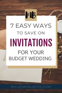 HOW TO SAVE ON WEDDING INVITES PIN