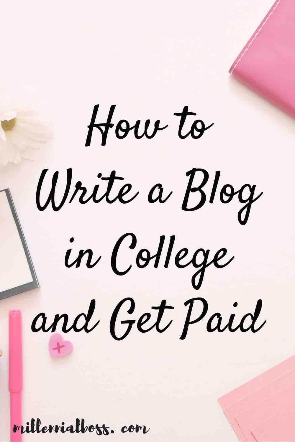College is THE TIME to start a blog. With all the new experiences you're having, new friends, relationships or lack-of, drama, school, and everything else you have going on, you have a lot to write about. I've put together a list of everything you need to know to succeed as a college blogger from how to start a blog, to how to drive traffic from Pinterest, to how to make money from your blog.