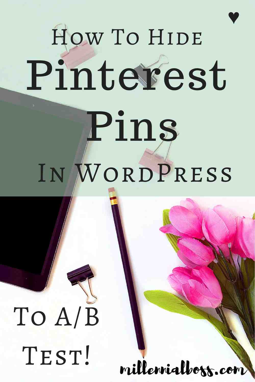 Super easy to do! I'm not A/B testing all of my Pinterest images and seeing good results.