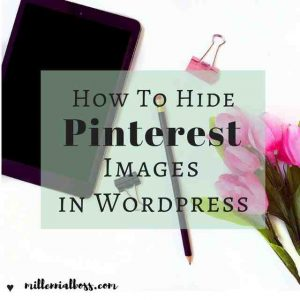 How to Hide Pinterest Images in Your Blog Posts