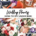 DIY Wedding Flowers under $500 including wedding bouquets, centerpieces and decorations. I used Fiftyflowers and show you step by step how I did my own wedding flowers without an expensive florist #weddinghack #diywedding #frugalwedding #weddingflowers