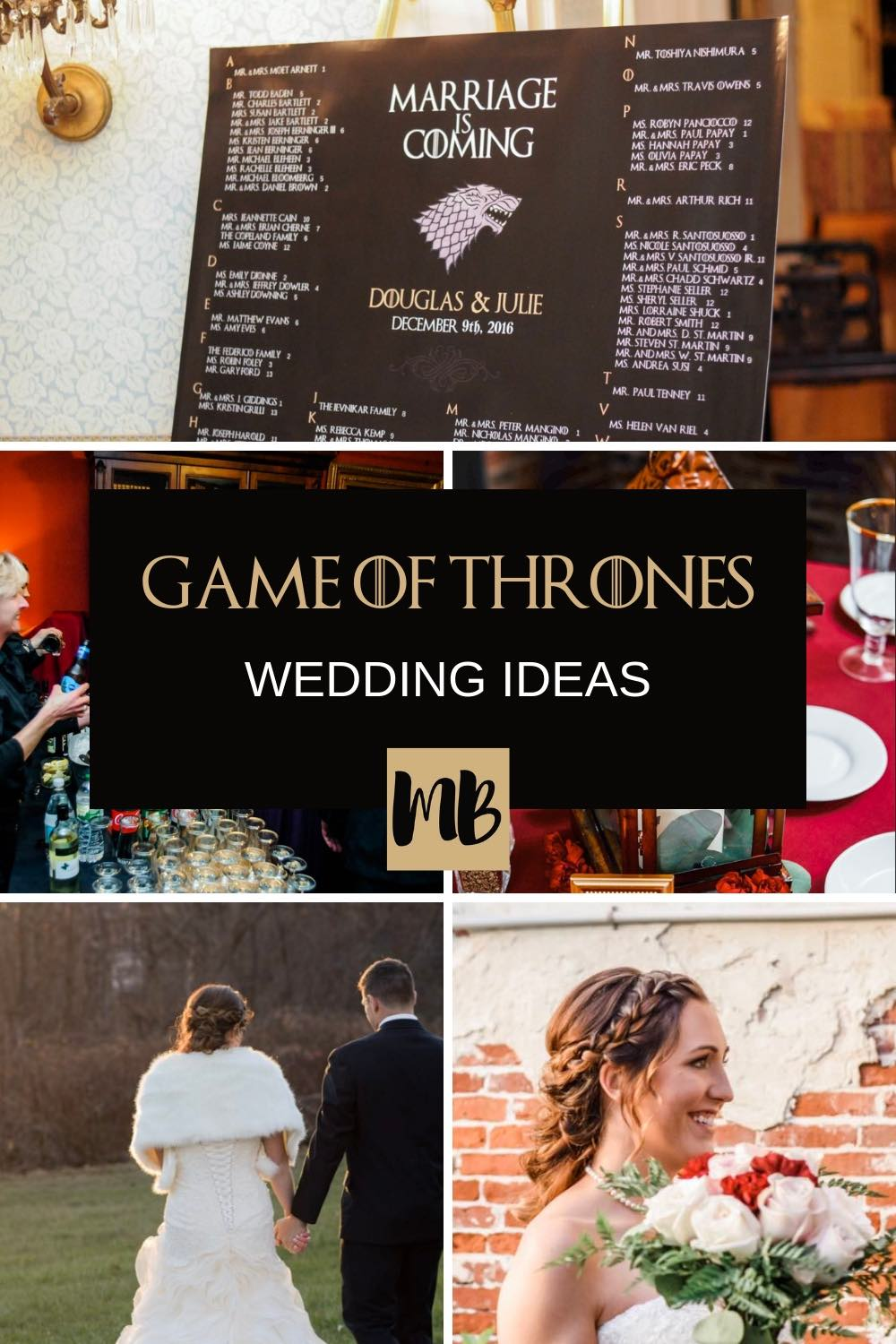 My Game of Thrones Wedding Under $15,000. Here is exactly how I did Game of Thrones Hair, Game of Thrones Music, Picked out a Game of Thrones Venue and Did Game of Thrones Inspired Wedding Flowers