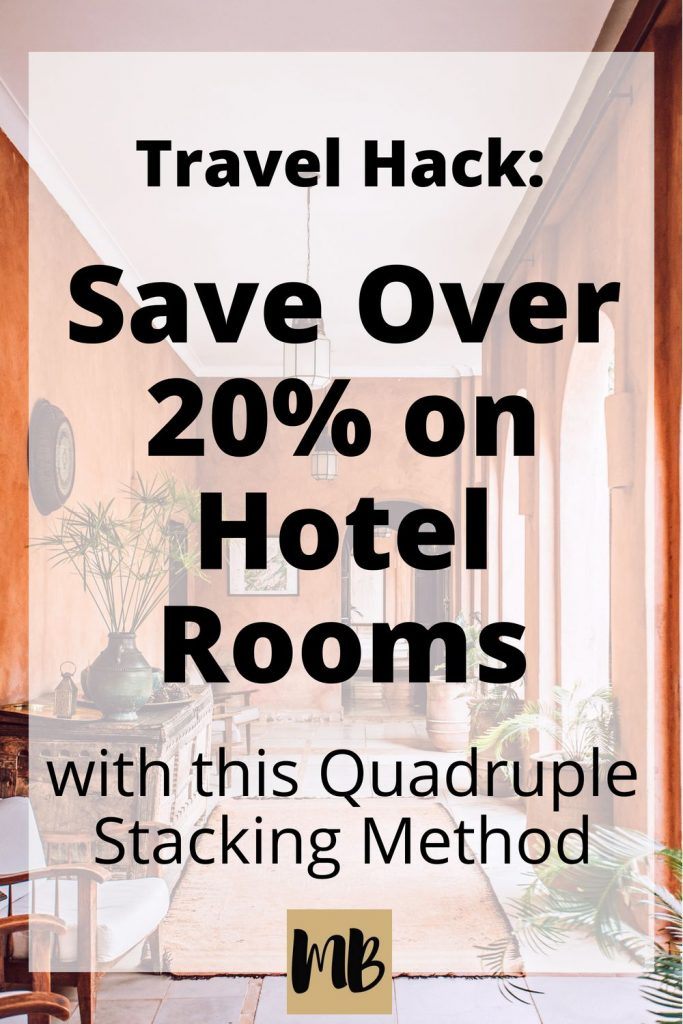 We recently tried out the quadruple stacking method on our honeymoon road trip through California and Oregon. Here are the steps we took and the results. Spoiler alert - you can possibly save over 20% on your next hotel deal. |#travelhacking #traveltips #hotels #frugal #FIRE #savingmoney