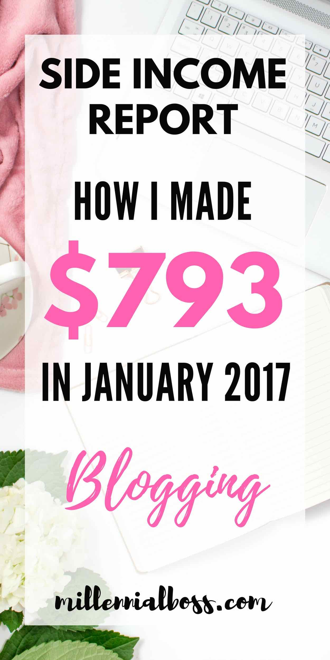 Blogging income report | Make money on blog | Side income | Side hustle ideas