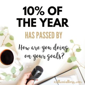 10% Of The Year Has Passed – How Are You Doing On Your Goals?