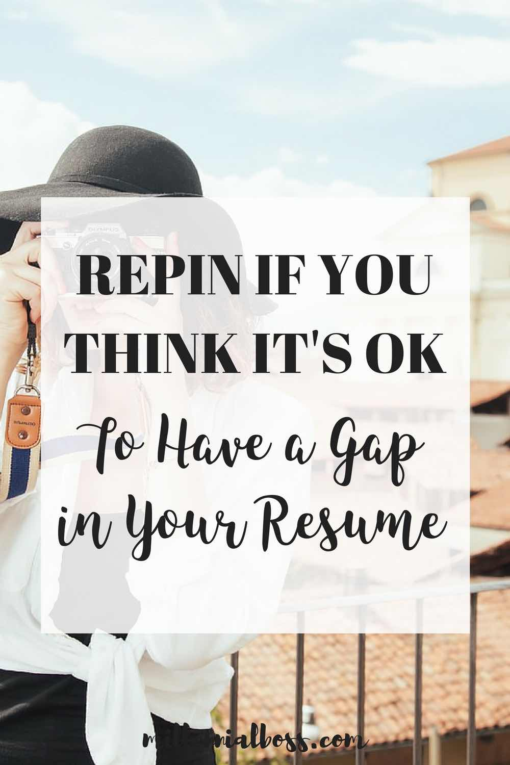 Take time off work | take time off school | gap year school | gap year college | gap on resume | take time off to find yourself