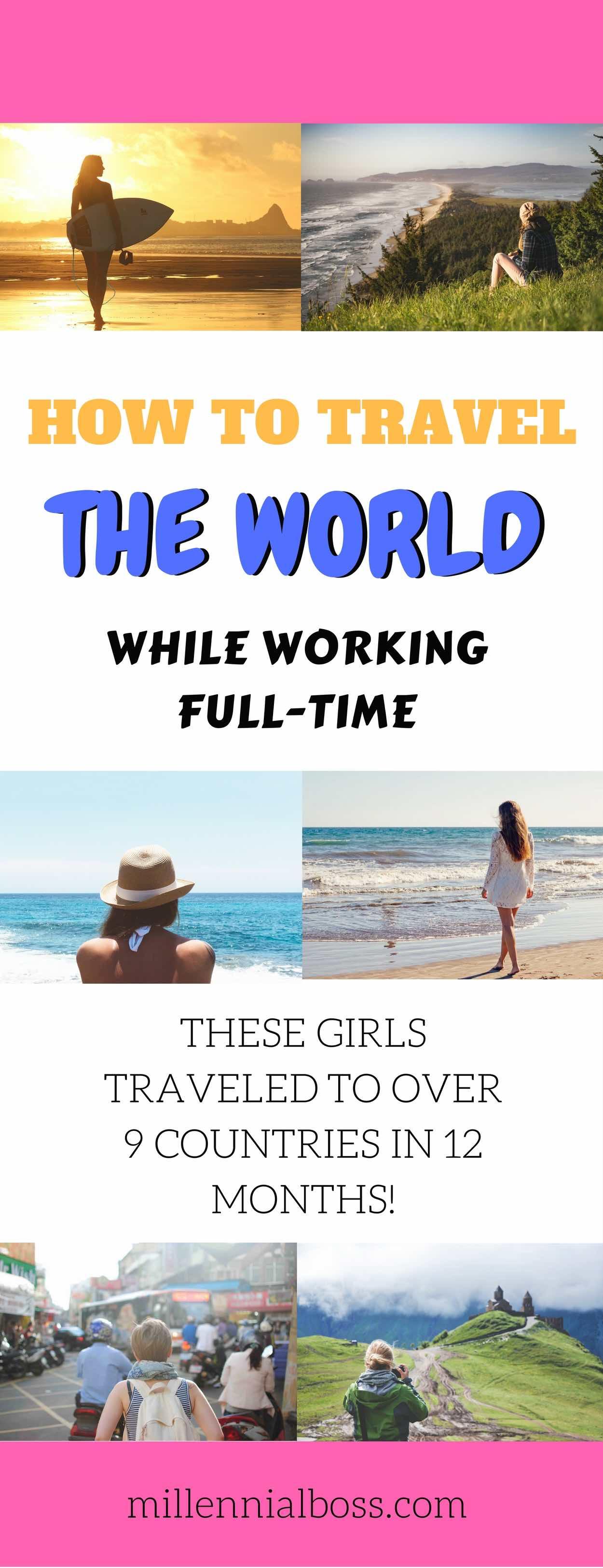 travel world while working | maximize travel while working | travel on weekends while working