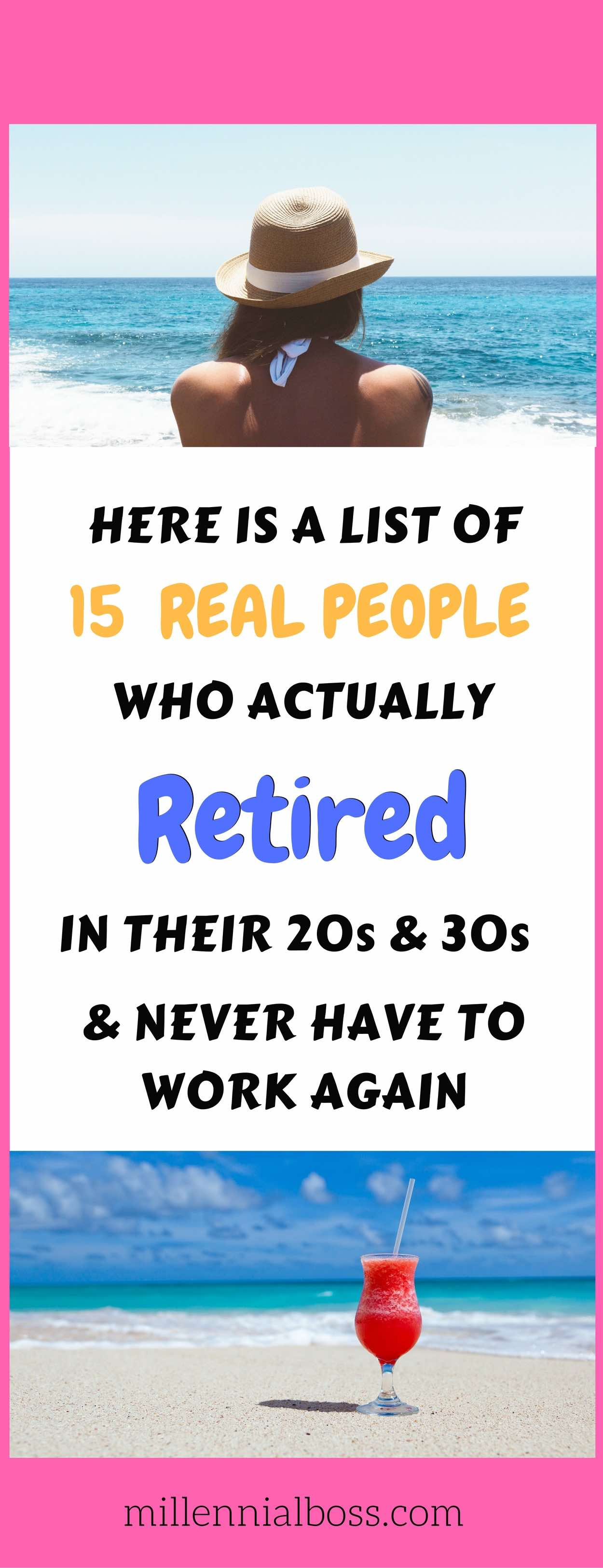 Love this list of twenty year old retirees | early retirement bloggers | early retirement | retiring early | how to retire early
