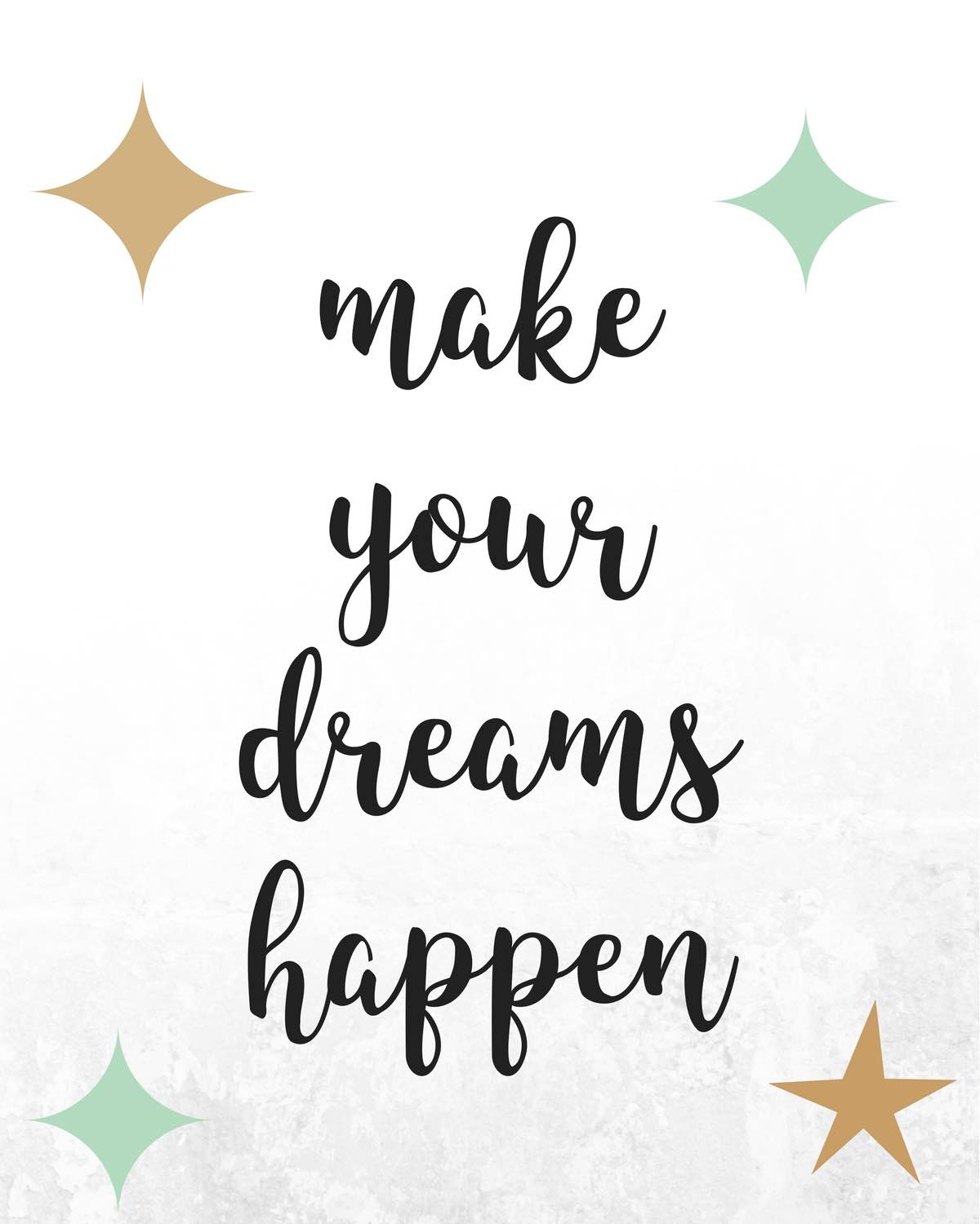 making your dreams happen is a beautiful thing! You go girl!