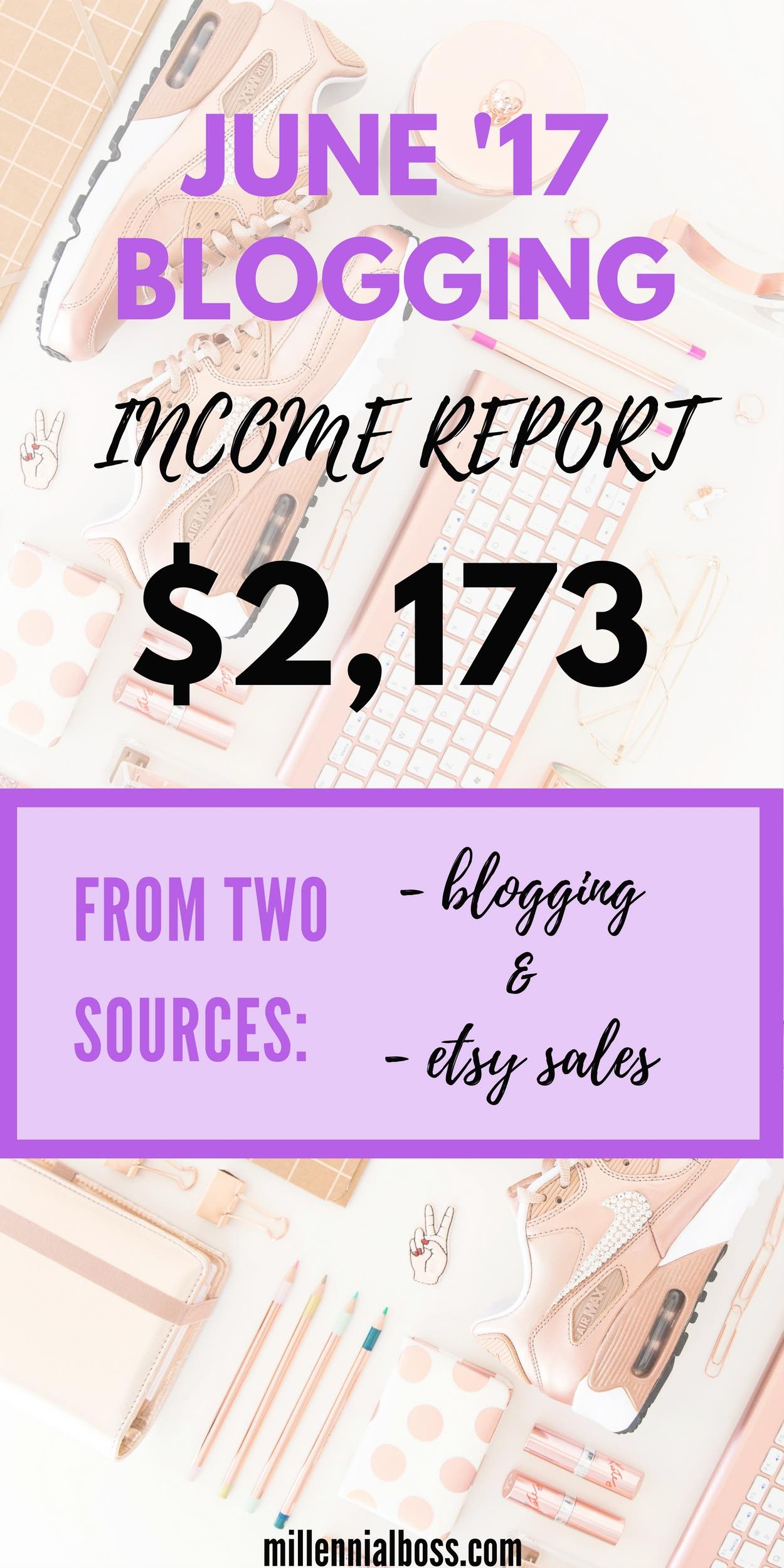 top blogging income reports for June 2017 | June 2017 income reports | July Income Reports