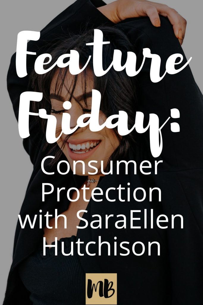 Feature Friday: This week our guest is SaraEllen Hutchison, a consumer protection lawyer and entrepreneur from Seattle.