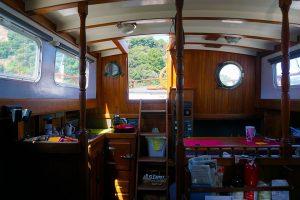 renovated sailboat