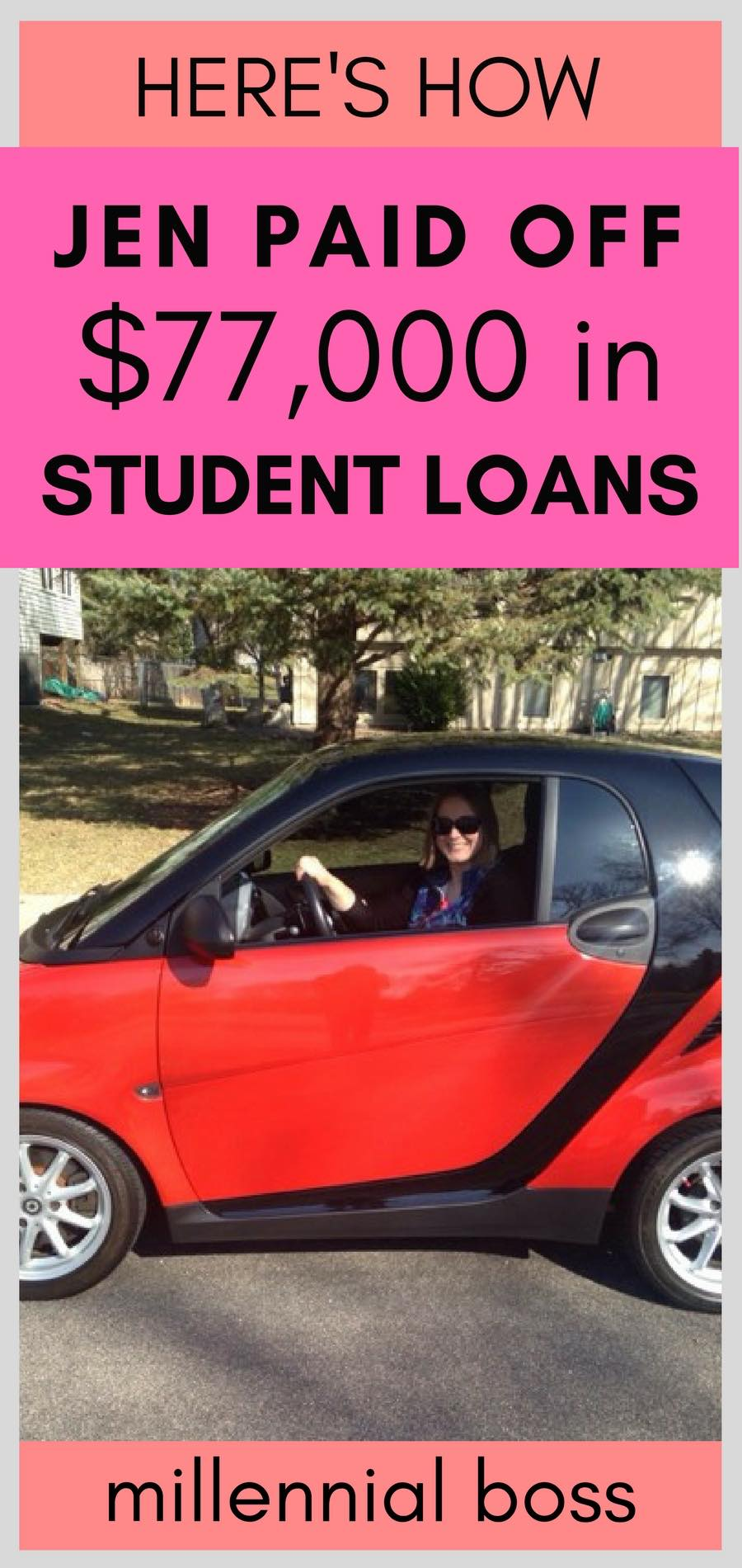 Jen paid off $77,000 in student loans | here are the steps she took to pay off her debt | Student loan payoff story