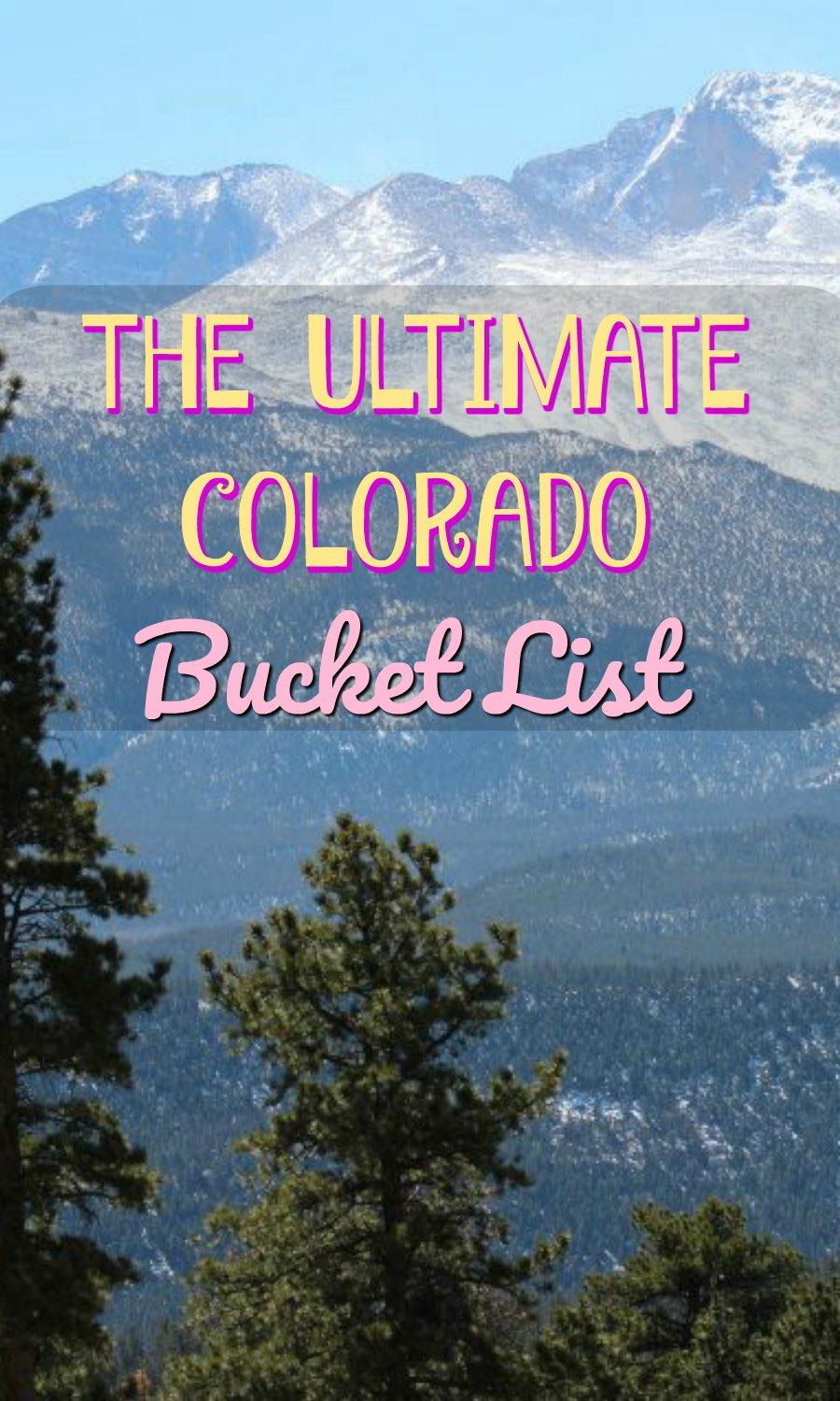 This Colorado Summer Bucket List has everything on my list this summer!