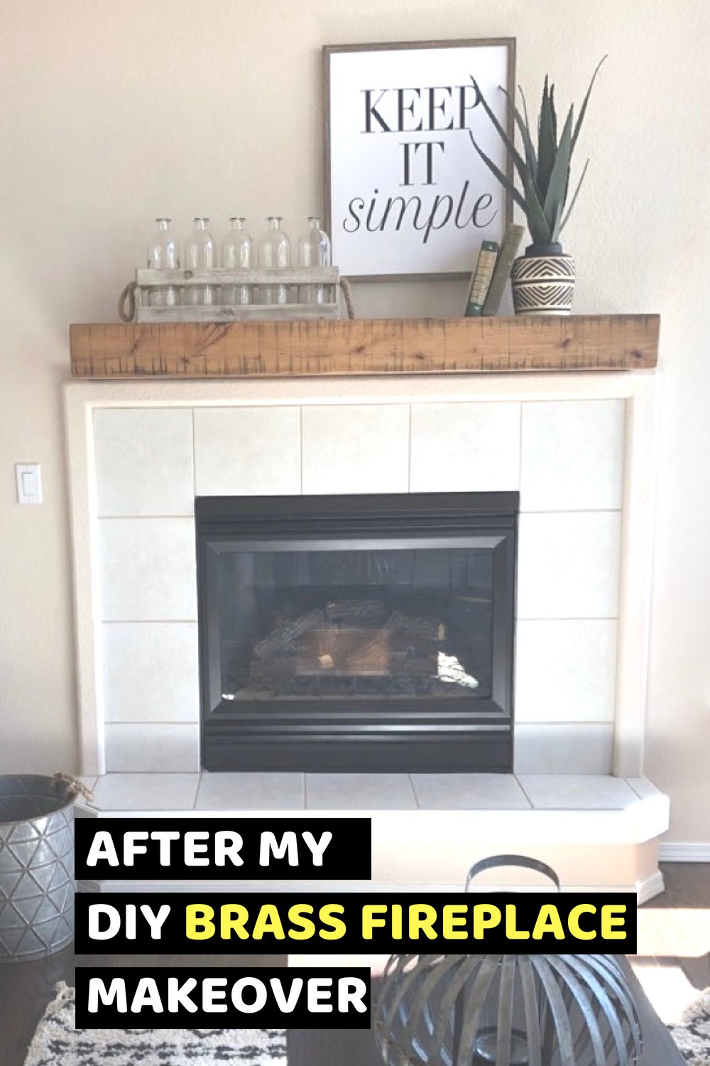 Fireplace mantle ideas | brass Fireplace makeover ideas | #fireplace #homedecor #DIY