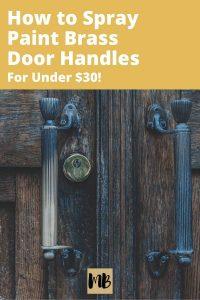 Brass Door Handle Makeover