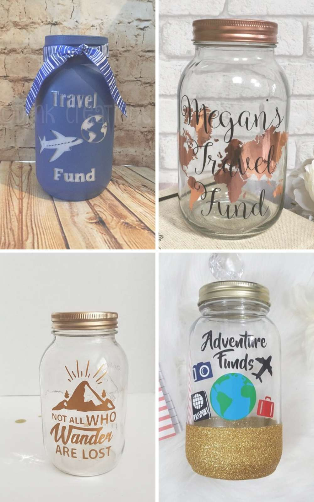 Dog Fund Mason Jar Bank Available In 3 Sizes Coin Slot Lid Jars Handmade Products