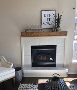 After brass fireplace makeover