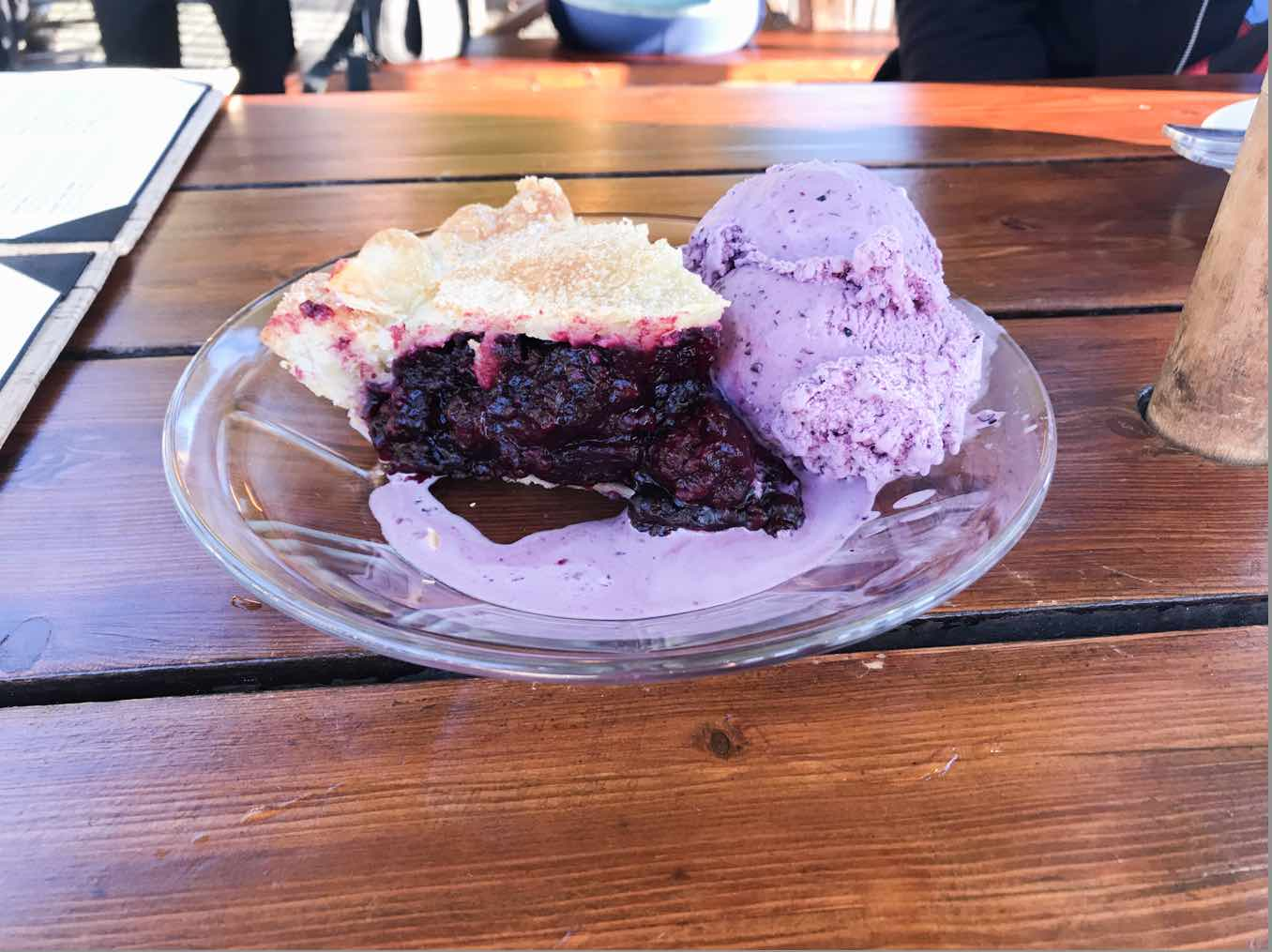huckleberry ice-cream