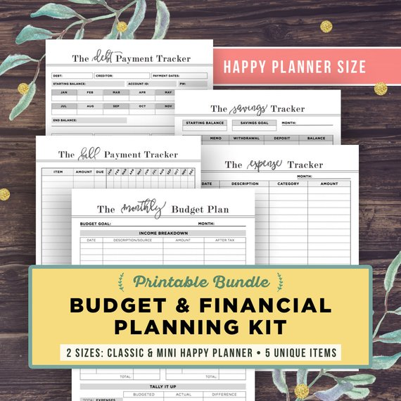 picture relating to Happy Planner Budget Printable named printable-spending budget-planner-satisfied-planner - Millennial Manager