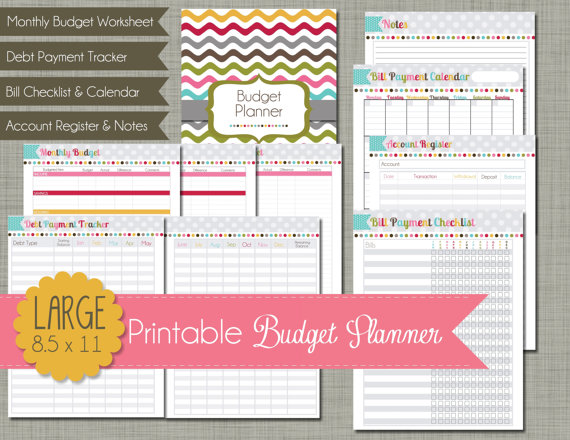 printable-budget-planner-rainbow-chevron