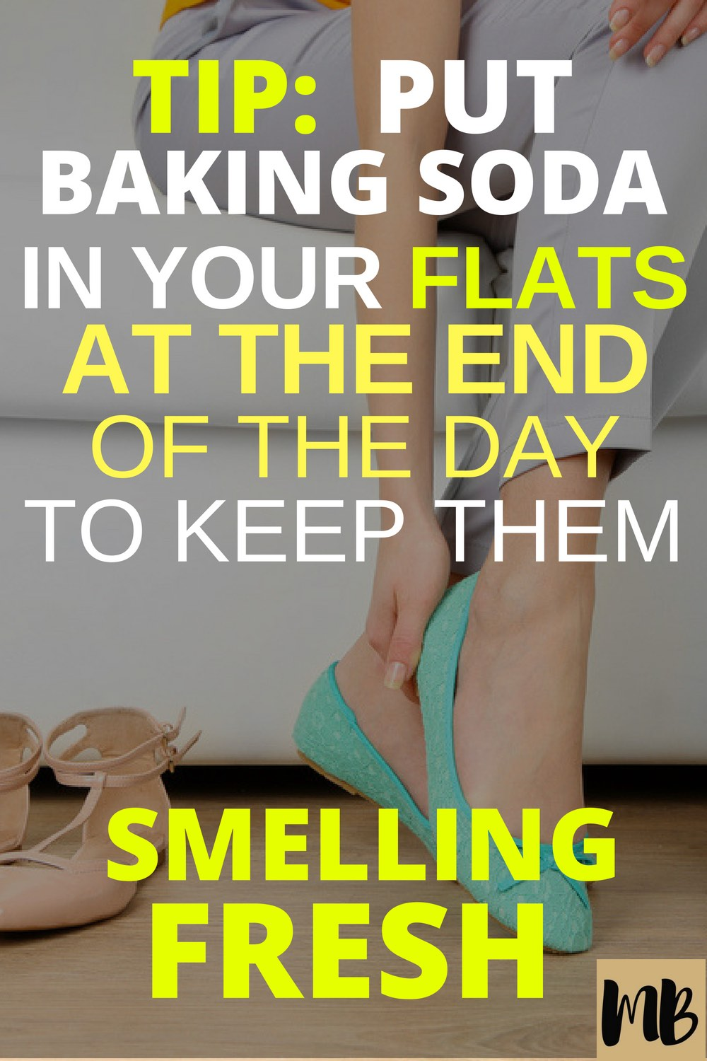 Put baking soda in your ballet flats to keep them smelling good and not sweaty!