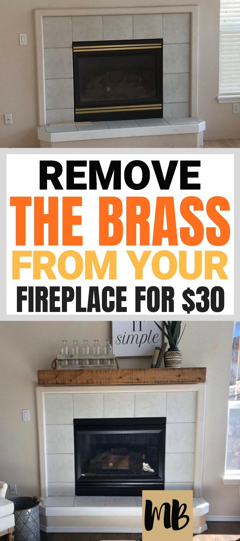Remove the brass from your fireplace #fireplacemakeover