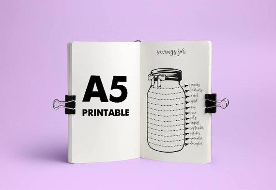 savings-tracker-bullet-journal-printable-A5