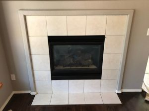 Brass fireplace surround makeover
