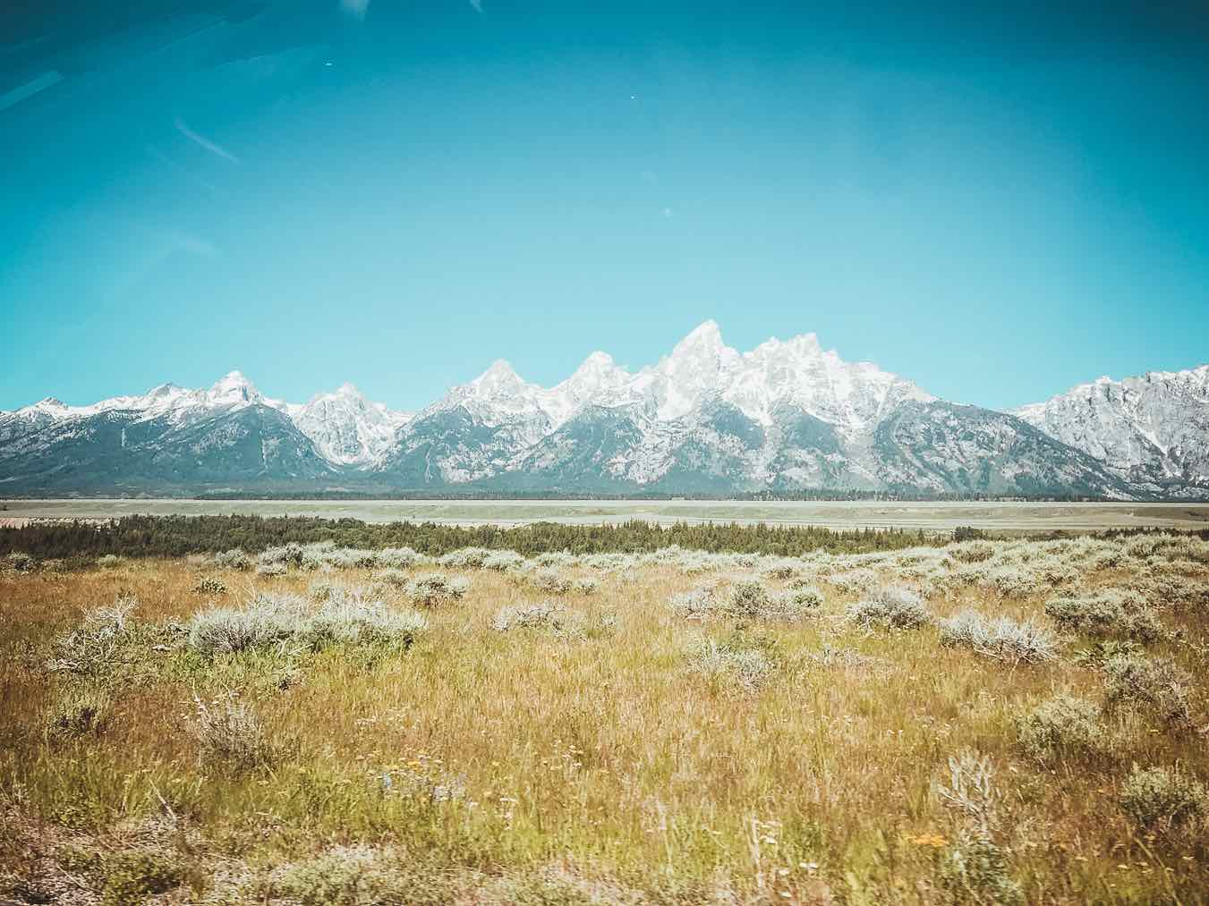 view from car grand teton trip report