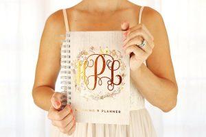 wedding-budget-planner-copper-foil-monogram