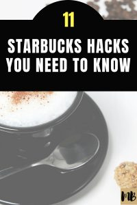 starbucks hacks money saving