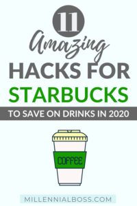 STARBUCKS DRINK HACKS