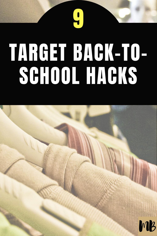 Target back to school hacks money saving tricks