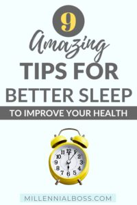 tips for better sleep to improve your health