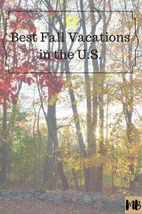 best fall vacations united states america