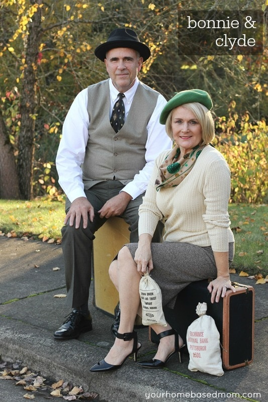 bonnie clyde cheap couples costumes diy halloween