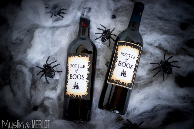 wine bottle lables diy halloween decorations