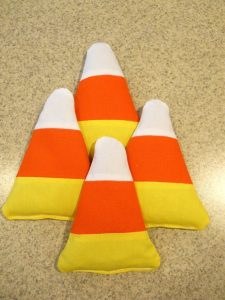 Candy corn hole halloween adult party games