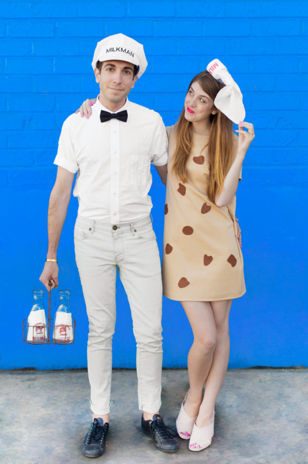 milk cookies diy halloween couples costume cheap