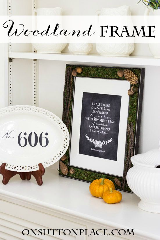 Fall Kitchen Decor Wooden Frame DIY