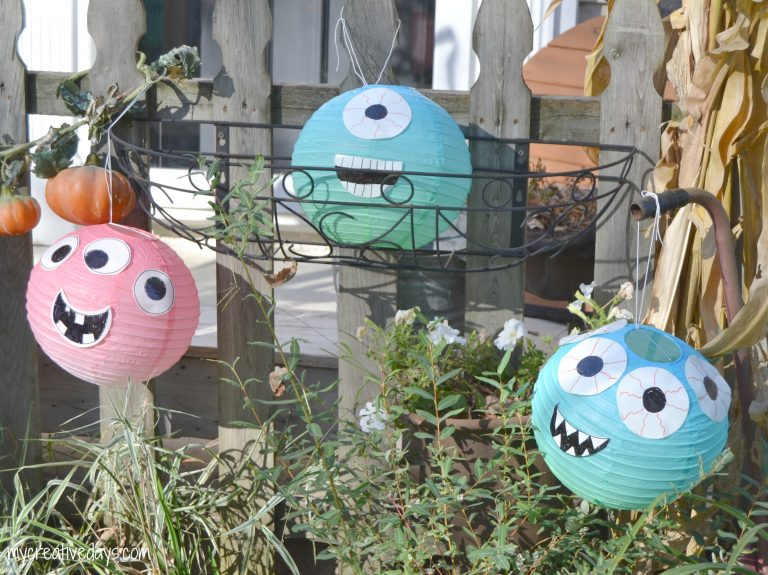 DIY Halloween Decorations paper lantern monsters