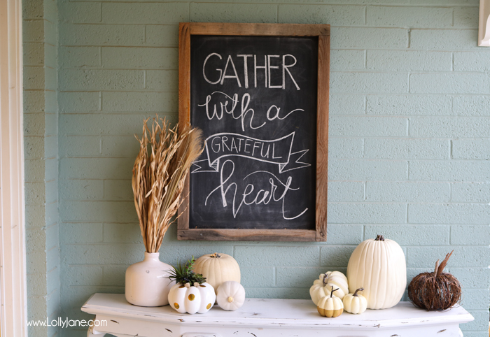 Fall Chalkboard Decoration kitchen decor diy